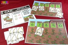 Spring Into Math Fun with this subtraction game!