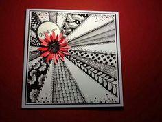 beautiful 'tangle' card!