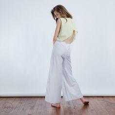 Open Back Jumpsuit / Yellow from Poplin Homewear by DaWanda.com