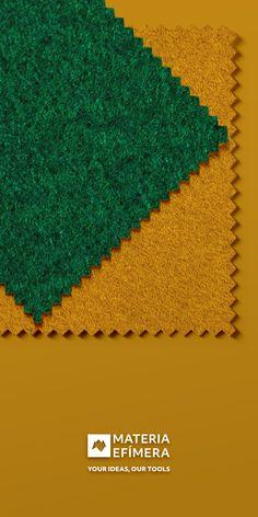 Combinación de moqueta ferial color verde oscuro con oro para stands, ferias, congresos y eventos. #Your