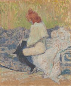 Henri de Toulouse-Lautrec (French, 1864 - 1901) Red-haired woman (Justine Diehl), 1897 Oil on carton, 58,5 x 48 cm