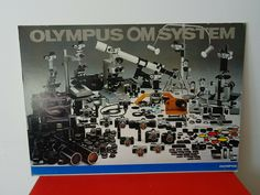 Werbung Photo Foto Geschäft Reklame XXL Olympus OM System Technik Vintage Photo Wall, Frame, Vintage, Home Decor, Pictures, Advertising, Homemade Home Decor, Photography
