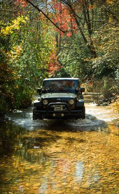 Jeep Off Roading want to drive down a stream/river in an off road vehicle.