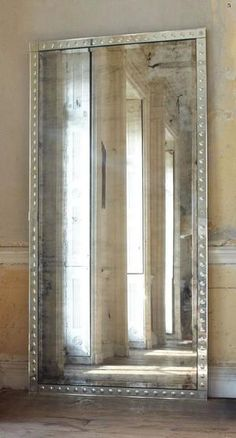 A beautifully aged large scaled Venetian style mirror. An aged eglomisé frame around an antique mirror plate. The Palazzo Mirror can be hung either horizontally or vertically, I prefer using it as a leaner. Beautiful Mirrors, Beautiful Homes, House Beautiful, Palazzo, Mirror Plates, Mirror Mirror, Entry Mirror, Antiqued Mirror, Leaning Mirror