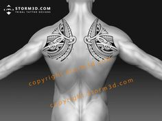 tribal shoulderblade tattoo designs for sale