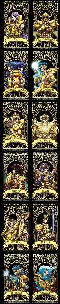 Gold Saints Cards Gold Saints  ♈ ♉ ♊ ♋ ♌ ♍ ♎ ♏ ♐ ♑ ♒ ♓