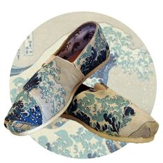 The Wave of Kanagawa Toms by GreenMorning on Etsy, $100.00