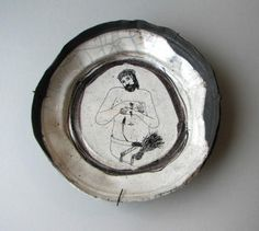 paper mache plates or bowls and put design or drawing  Christ as the Man of Sorrows / Philip Eglin