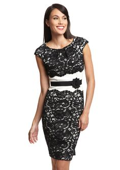 JAX  Cap Sleeve Lace Dress  $79.99