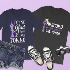 I'm So Glad I Left My Tower Shirt Tangled Shirt Rapunzel Tower Shirts Disney Couple Shirt Family Disney Princess Shirts, Matching Disney Shirts, Disney World Shirts, Disney Couples, Disney Shirts For Family, Family Shirts, Disney Tees, Matching Outfits, Rapunzel
