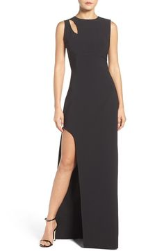 Maria Bianca Nero Asymmetrical Gown available at #Nordstrom