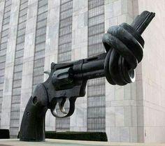 Protest Art - Protesting the proposed UN gun ban treaty.
