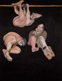 Francis Bacon (1909-1992), Three Studies from the Human Body. Oil on canvas, 77 3Ž4 x 58 1/8 in. (198 x 147.3 cm). Painted in 1969. Private Collection.