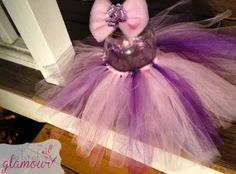 Pink and Purple Girly Tutu with Matching Hair Bow by abitofglamour, $26.00