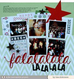 Falalalalala page by Lisa Dickinson