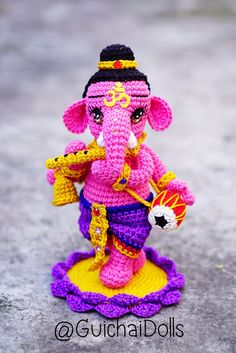 Lord Ganesha Kid Music Posture by Guichai on Etsy