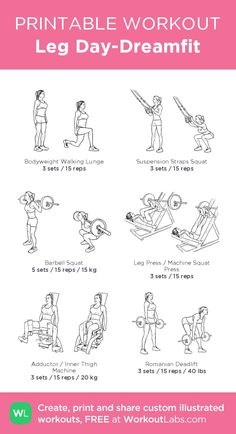 Leg Day-Dreamfit: my visual workout created at WorkoutLabs.com • Click through to customize and down