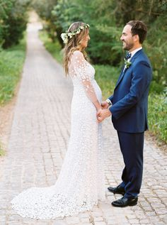Bohemian bride and groom: http://www.stylemepretty.com/little-black-book-blog/2015/11/19/whimsical-destination-wedding-in-portugal/   Photography: Love is my Favorite Color - http://loveismyfavoritecolor.com/