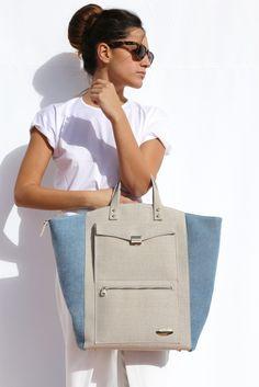 Vodivi Ilex Guado Lady Maxi Work Handbag, Blue IGU06