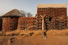 Gurunsi villages are formed by sukhala houses, which are decorated hand painted by the women of the village, tiebele, burkina faso by anthony pappone photographer, via