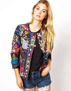 Manoush Statement Jacket in Patchwork