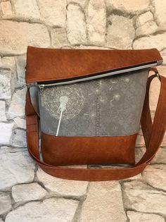 Schultertaschen - FoldOver Tasche, Jeans Upcycling - ein Designerstück von Kleine-Wollbude bei DaWanda
