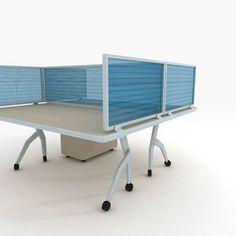 "OBEX Polycarbonate Desk Mounted Privacy Panel Size: 12"" H x 48"" W x 0.63"" D, Color: Translucent, Frame Color: Black"
