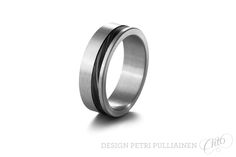 Black diamond coated Damascus steel in stainless steel. Institute Of Design, Damascus Steel, Black Diamond, Different Colors, White Gold, Wedding Rings, Rose Gold, Engagement Rings, Stainless Steel