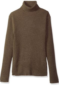 ouxiuli Mens Casual Plus-Size Loose Fit Pullover Turtle Neck Base Solid Color Sweater