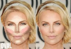 Techniques kim kardashian Highlight and Contour Makeup Guide for Oval face shape- fashionilluminati. Highlight and Contour Makeup Guide for Oval face shape- fashionilluminati. Contouring Oval Face, Oval Face Makeup, Contour Makeup, Contouring And Highlighting, Beauty Makeup, Hair Beauty, Contour Face, Oval Face Shapes, Contouring Makeup