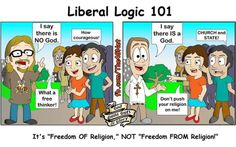 Liberal logic on religion - hypocrisy at it's finest