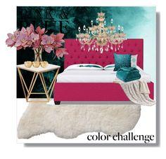 Pink & Blue by poshtori on Polyvore featuring interior, interiors, interior design, home, home decor, interior decorating, Nuevo, Universal Lighting and Decor, Serena & Lily and pinkandblue