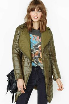 urbanNATURES City Style: Olive Puffer Coat & Concert Tee