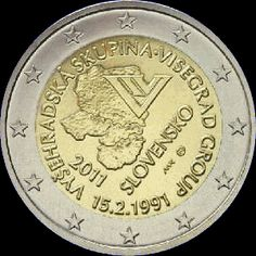 2€ Eslovaquia 2011 -Visegrad- Euro Währung, Piece Euro, Timbre Collection, Euro Coins, Valuable Coins, Coins Worth Money, Coin Worth, Gold And Silver Coins, Commemorative Coins