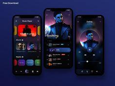 Free Music Player UI Design