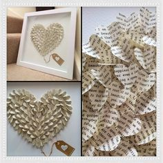 Fantastic 3D heart made from a husbands speech. Perfect anniversary or even wedding present! Exclusive to Emmie Home Interiors