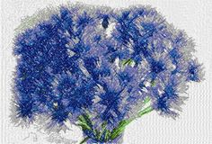 Blue flower photo stitch free embroidery design - Photo stitch embroidery designs - Machine embroidery community