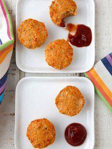 Cheesy Turkey Meatloaf Bites - freezable
