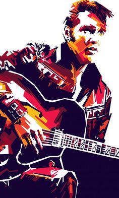 Elvis Presley Pop Art by memet sanjaya