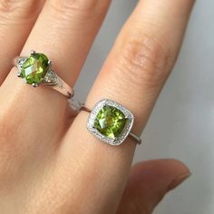 August birthstone of the month is coming up! off select peridot jewellery starting next week! Druzy Ring, Gemstone Rings, Peridot Jewelry, Instagram Widget, Birthstones, Jewels, Jewellery, Color, Birth Stones