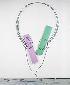Private dancer, Steel rod and oil paint on aluminium. Michael Craig, Still Life Artists, Words On Canvas, Color Scale, Outline Drawings, A Level Art, Shape And Form, Everyday Objects, Public Art