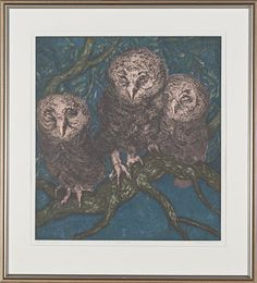 Ugler i oliventreet av Ferdinand Finne