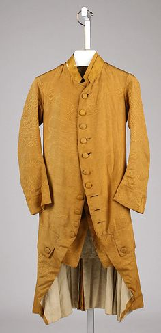 Ensemble  Date:     1770–80 Culture:     Italian Medium:     silk Dimensions:     Length (a): 39 in. (99.1 cm) Length (b): 31 in. (78.7 cm) ... Accession Number: 26.56.20a, b