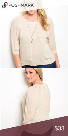 🎉🎉NEW🎉🎉Alluring Cream Fall Top Necklace comes with the top!  97% Rayon 3% spandex. Tops