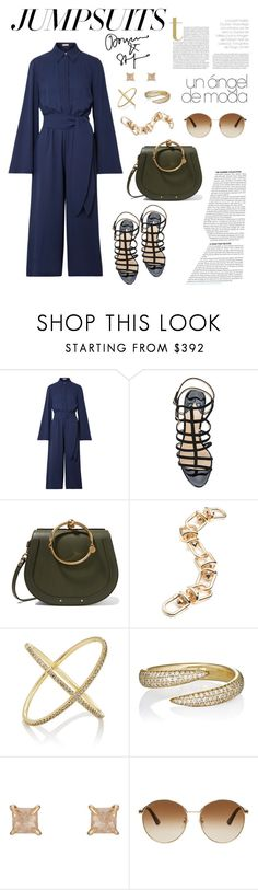 """Jumpsuits"" by windrasiregar on Polyvore featuring Michael Kors, Paul Andrew, Chloé, Eddie Borgo, Eva Fehren and Gucci"