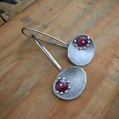 Just finished. Watermelon tourmaline in silver. #silverearrings #tourmaline #gemstonejewelry