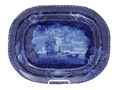 Lot: A Historical Blue Staffordshire Platter, Enoch Wood &, Lot Number: 0035, Starting Bid: $300, Auctioneer: Leslie Hindman Auctioneers, Auction: Milwaukee Spring Auction, Date: March 21st, 2014 EDT