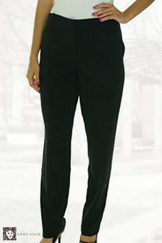 Anne Klein Women's Tuxedo Stripe Knit Pants