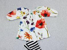 summer baby girl dress, baby girl clothes, wildflower dress, boho baby girl, floral baby dress, peasant dress for baby girl, newborn dress