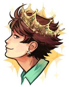 Grand King by Miupoke on DeviantArt Iwaoi, Kageyama Tobio, Hinata, Haikyuu Meme, Haikyuu Fanart, Great King, Super Secret, Haikyuu Ships, Karasuno